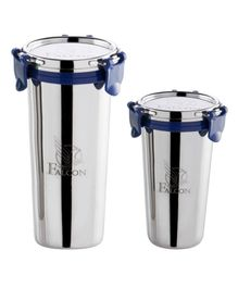 Falcon Stainless Steel Tumblers Set of 2 - 370 ml & 520 ml