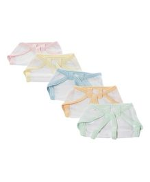 Tinycare Cloth Nappy String Tie Up Newborn - Set Of 5 (Color May Vary)
