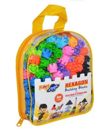 Planet Of Toys Hexagon Building Block Set Multicolor - 150 Pieces