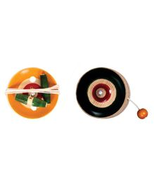 Desi Toys Wooden Yo-Yo & Spinner Set - Multicolour