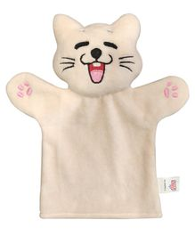 Ultra Cat Hand Puppet Peach - Height 22.8 cm