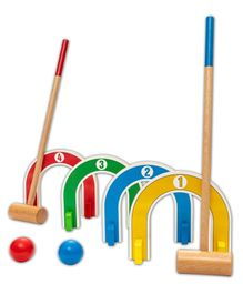 Hilife Toddler's Colourful Croquet Set - MultiColor