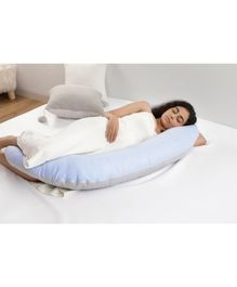 Mi Arcus 100% Organic Cotton C Shape Pregnancy Body Pillow - Blue