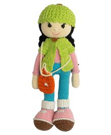 Happy Threads Crochet Molly Doll Green - Height 25.4 cm