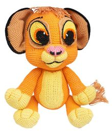 Happy Threads Crochet Simba Soft Toy Brown - Height 22.5 cm