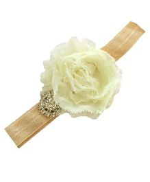 Bellazaara Trendy Headband For Little Girls - Ivory