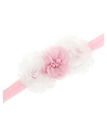 Bellazaara Trendy Headband For Little Girls - White & Pink