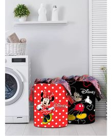 Fun Homes Laundry Bag Mickey Mouse And Friends Print Set Of 2 - Red Blue