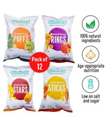 Timios Munchies Mix Assorted Pack of 12 - 30 gm each