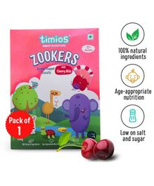 Timios Zookers Cherry Biscuits - 150 gm