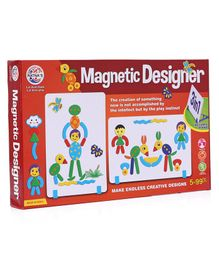 Ratnas 3 in 1 Magnetic Designer Board with Magnets - Multicolor