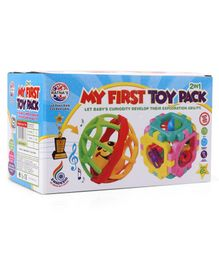 Ratnas 2 in 1 My First Toy Pack Rattles Set - Multicolour
