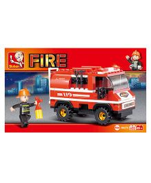 Sluban Fire Truck Construction Sets - Red