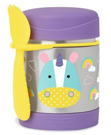 Skip Hop Zoo Insulated Little Kid Food Jar Unicorn Purple - 325 ml
