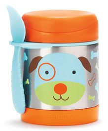 Skip Hop Zoo Insulated Little Kid Food Jar Dog Orange - 325 ml