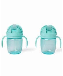 Skip Hop Sip to Straw Cup Blue Pack Of 2 - 295 ml Each
