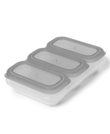 Skip Hop Containers Pack Of 3 Grey - 118 ml Each