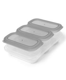 Skip Hop Containers Pack Of 3 Grey - 177 ml each