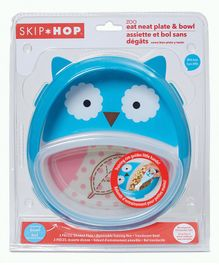 Skip Hop Zoo Smart Serve Non-Slip Training Set Owl Print - Blue