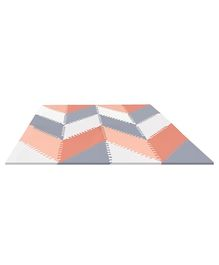 Skip Hop Playspot Geo Puzzle Play Mat Grey Peach - 40 Pieces