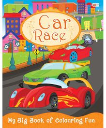 Car Race Coloring Book - English