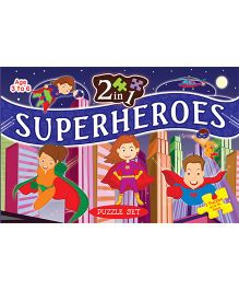 2 In 1 Superheroes Puzzle Set - 64 Pieces And 96 Pieces