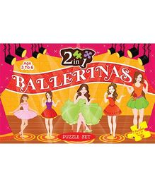 2 In 1 Ballerina Puzzle Set - 40 Pieces And 64 Pieces