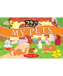 2 In 1 My Pets Puzzle Set -  96 Pieces And 96 Pieces