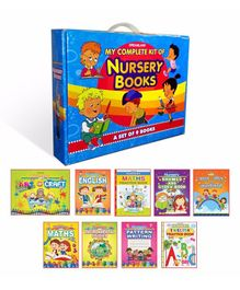 Dreamland Publications My Complete Kit of Nursery Books Set of 9 Books - English & Hindi