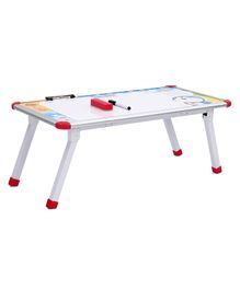 Doreamon Study Table With Height Adjustment And White Board - White