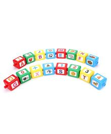 Toyenjoy Alphabet & Number Blocks Train - Multicolor