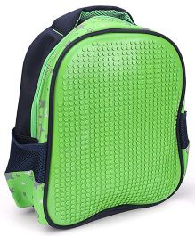 The Eed Dot Print Design School Bag Blue & Green - 11 inch
