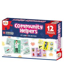 Ankit Toys Community Helpers Jigsaw Puzzles Multicolor - 12 Puzzles