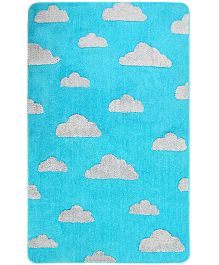Saral Home Premium Quality Very Soft Special Baby Design Carpet - Sky Blue