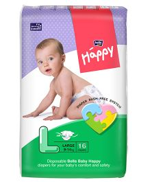 Bella Baby Happy Diapers Large - 16 Pieces