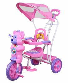 HLX NMC Fun Mouse Musical Tricycle With Navigator - Pink