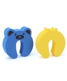 Cutez Door Guards Small Blue And Yellow - Pack Of 2