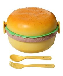 Fab N Funky Lunch Box - Orange - Burger Print