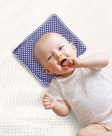 Babyhug Rai (Mustard) Seed Filling Pillow Fruit Shape Blue - Polka Dots