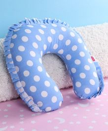 Babyhug Neck Support Pillow With Frill - Blue