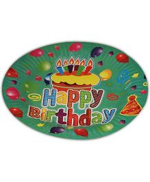 Partymanao Happy Birthday Plate Green -  Pack Of 10