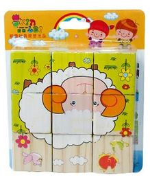 Partymanao 6 in 1 Sheep Puzzle  Multicolor - 6 Pieces