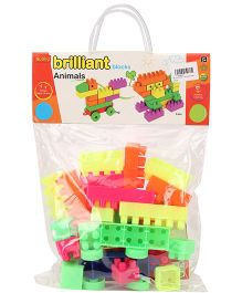 Buddyz Brilliant Animals Blocks Multicolor - 28 Pieces