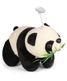 Tickles Panda Plush Soft Toy With Leaves Black And White- 19 cm