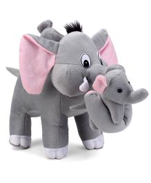 Tickles Mother Elephant With Two Babies Stuffed Soft Plush Toys - 32 cm