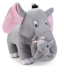 Tickles Mother Elephant With Single Baby Stuffed Soft Plush Toys -  41 cm