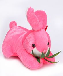 Tickles Cute Rabbit Soft Toy With Leaves Pink - 25.4 cm