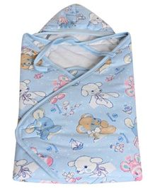 Tinycare Hooded Baby Blanket - Blue