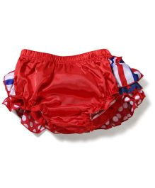 juDanzy Star & Dot Print Diaper Cover - Red