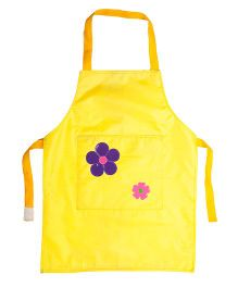 Li'll Pumpkins Flower Apron - Yellow